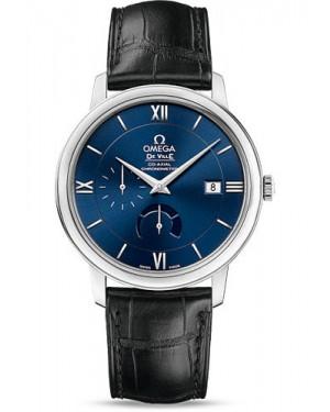 Exact Replica Omega De Ville Prestige Co-Axial Power Reserve 39.5 mm Steel Blue Dial 424.13.40.21.03.001 Watch