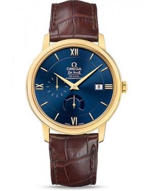 Exact Replica Omega De Ville Prestige Co-Axial Power Reserve 39.5 mm Yellow Gold Blue Dial 424.53.40.21.03.001 Watch