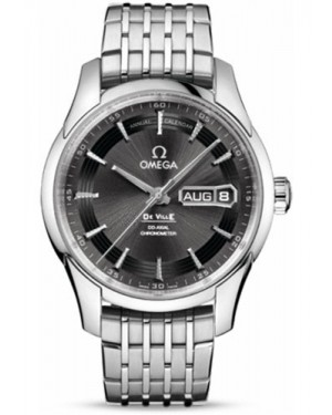 Exact Replica Omega De Ville Hour Vision Co-Axial Annual Calendar 41mm Stainless Steel Anthracite Dial 431.30.41.22.06.001 Watch