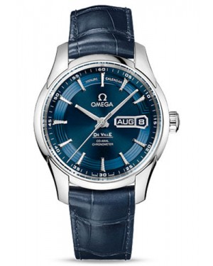 Exact Replica Omega De Ville Hour Vision Co-Axial Annual Calendar 41mm Stainless Steel Blue Dial 431.33.41.22.03.001 Watch