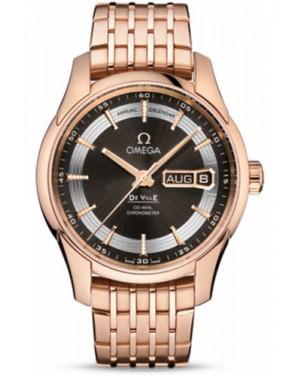 Exact Replica Omega De Ville Hour Vision Co-Axial Annual Calendar 41mm Red Gold 431.60.41.22.13.001 Watch