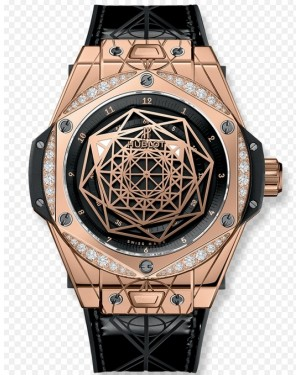 Replica Hublot Big Bang Sang Bleu Rose Gold Diamonds 465.OS.1118.VR.1204.MXM17 Watch