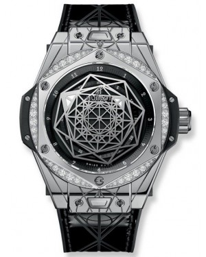Replica Hublot Big Bang Sang Bleu Steel Diamonds 465.SS.1117.VR.1204.MXM17 Watch