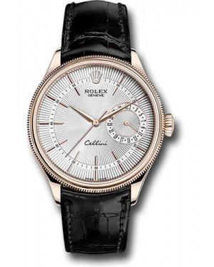 Replica Rolex Cellini Date Silver Guilloche Dial 50515 sbk Watch