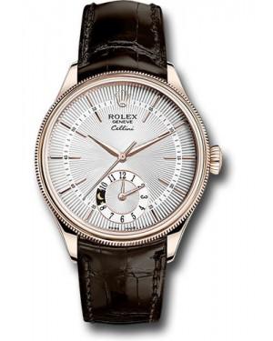 Replica Rolex Cellini Dual Time Silver Dial 50525 sbr Watch