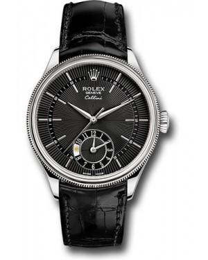 Replica Rolex Cellini Dual Time White Gold 50529 bkbk Watch