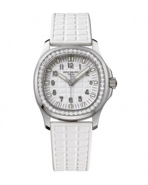 Replica Patek Philippe Aquanaut 5067A-011 Ladies Stainless Steel Diamonds White Dial Watch