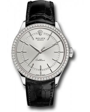 Replica Rolex Cellini Time White Gold 50709RBR rhbk Watch
