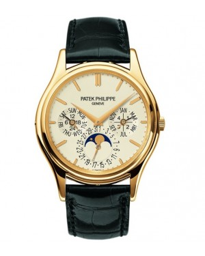 Replica Patek Philippe Perpetual Calendar Moonphase 5140J-001 Grand Complications Yellow Gold White Dial Watch