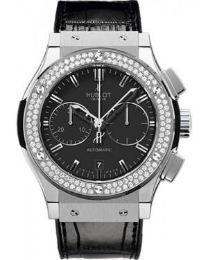 Buy Exact Replica Hublot Classic Fusion 45mm Chronograph Titanium Diamonds 521.NX.1170.LR.1104