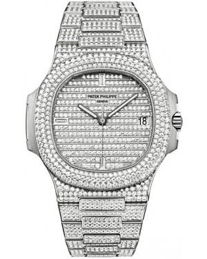 Exact Replica Patek Philippe Nautilus 5719/1G-001 Mens White Gold Watch