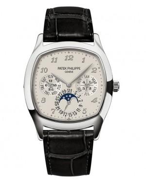 Replica Patek Philippe Perpetual Calendar Moonphase Cushion 5940G-001 White Gold Watch