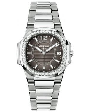 Exact Replica Patek Philippe Nautilus 7010/1G-010 Ladies White Gold Watch