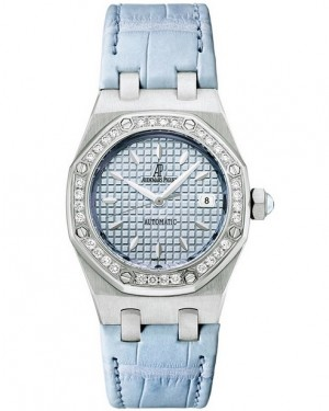Exact Replica Audemars Piguet Royal Oak Lady Automatic 35mm Stainless Steel Blue Dial 77321ST.ZZ.D302CR.01 Watch