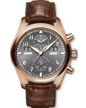 Replica IWC Pilots Spitfire Perpetual Calendar Digital Date-Month Red Gold IW379105