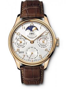 Replica IWC Portuguese Perpetual Calendar Red Gold IW502306
