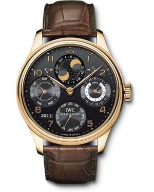 Replica IWC Portuguese Perpetual Calendar Red Gold IW503202