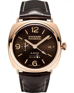 Replica Panerai Radiomir 8 Days GMT Pink Gold PAM00395