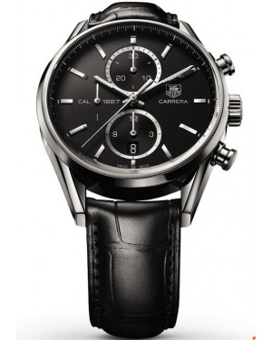Exact Replica Tag Heuer Carrera 1887 Black Dial Chronograph 41mm CAR2110.FC6266