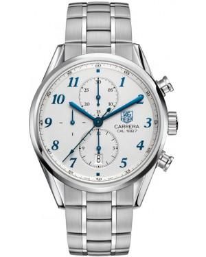 Exact Replica Tag Heuer Carrera 1887 Blue Hands Steel Chronograph 41mm CAR2114.BA0724