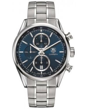 Exact Replica Tag Heuer Carrera 1887 Blue Dial Steel Chronograph 41mm CAR2115.BA0724