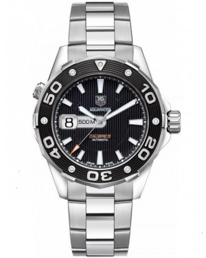 Replica TAG Heuer Aquaracer 500M Calibre 5 Stainless Steel Black Dial WAJ2114.BA0871 Watch