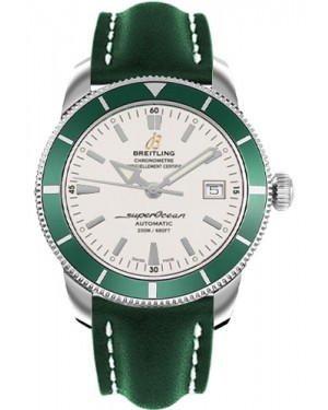 Exact Replica Breitling Superocean Heritage 42 Green Leather Strap A1732136/G717 Watch