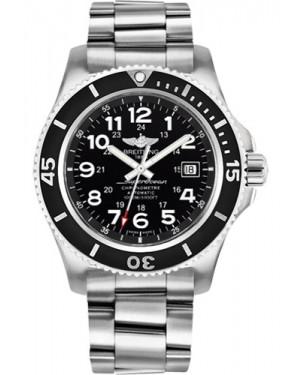 Exact Replica Breitling Superocean II 44mm Black Dial Steel Professional III Bracelet A17392D7/BD68 Watch