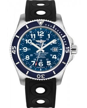 Exact Replica Breitling Superocean II 44mm Blue Dial Black Ocean Racer II Strap A17392D8/C910 Watch