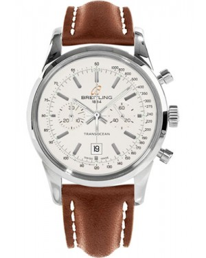 Replica Breitling Transocean Chronograph 38 Stainless Steel Leather Strap A4131012/G757 Watch
