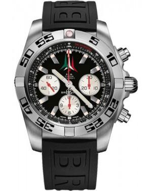 Replica Breitling Chronomat 44 Steel Frecce Tricolori Black Diver Pro III Strap AB01104D/BC62