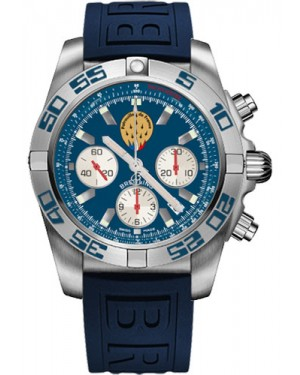 Replica Breitling Chronomat 44 Steel Patrouille de France Blue Diver Pro III Strap AB01109E/C886