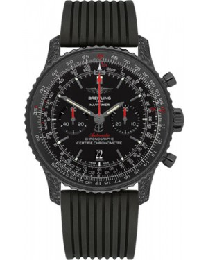 Exact Replica Breitling Navitimer 01 MB0128AN/BE51 46mm Black Steel Diamonds Rubber Strap