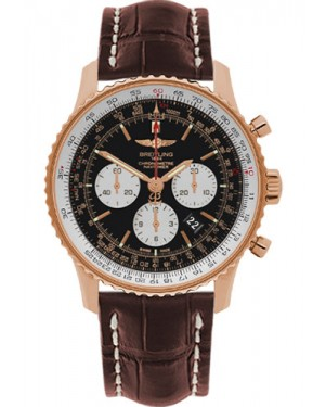 Exact Replica Breitling Navitimer 01 RB012721/BD10 46mm Red Gold Brown  Croco Strap