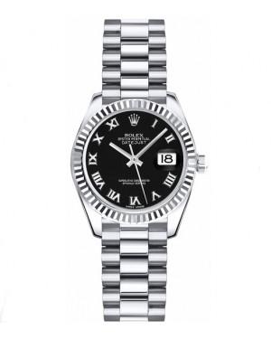 Replica Rolex Datejust Lady 26mm Black Roman Dial 179179