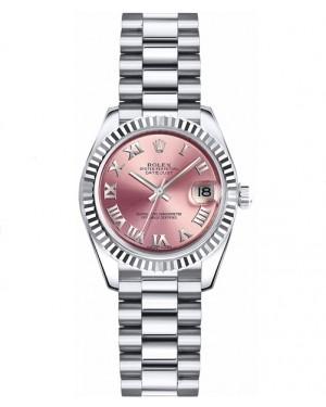 Replica Rolex Datejust Lady 26mm Pink Roman Dial 179179