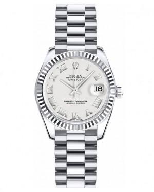 Replica Rolex Datejust Lady 26mm White Roman Dial 179179