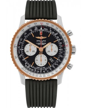 Exact Replica Breitling Navitimer 01 UB012721/BE18 46mm Steel and Gold Rubber Strap