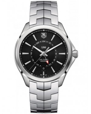 Replica Tag Heuer Link Calibre 7 GMT Automatic Black Dial Watch WAT201A.BA0951