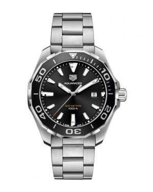 Replica TAG Heuer Aquaracer 300m 43mm Black Bezel Quartz Watch WAY101A.BA0746