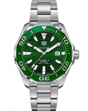 Replica Tag Heuer Aquaracer Calibre 5 43mm Green Dial WAY201S.BA0927 Watch