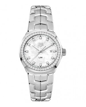 Replica TAG Heuer Link Lady Steel White Mother-of-pearl Dial Diamond WBC1316.BA0600