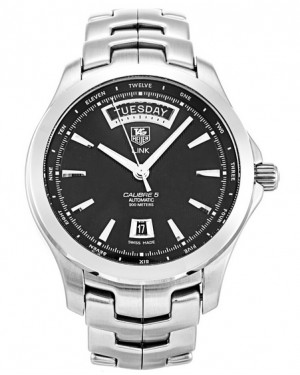 Replica Tag Heuer Link Calibre 5 Day Date Automatic Black Dial Watch WJF2010.BA0592