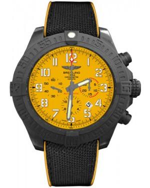 Exact Replica Breitling Avenger Hurricane Military Rubber Strap Yellow Dial XB0170E4/I533 Watch
