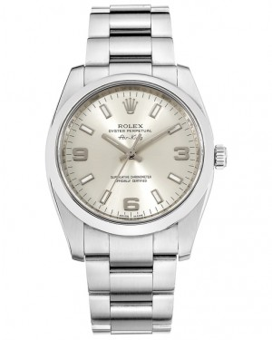 Replica Rolex Air-King 114200 Stainless Steel Silver Dial