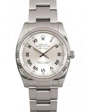 Replica Rolex Air-King 114234 Silver Diamond Dial