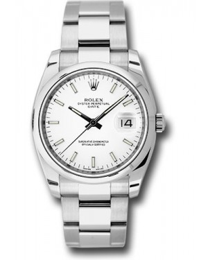 Exact Replica Rolex Oyster Perpetual Date 115200 wio 34mm Domed Bezel Oyster Bracelet