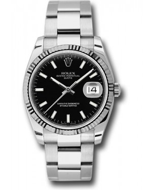 Exact Replica Rolex Oyster Perpetual Date 115234 bkso 34mm Fluted Bezel Oyster Bracelet