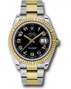 Exact Replica Rolex Datejust II 116333 bkao 41mm Steel and Yellow Gold Fluted Bezel Oyster