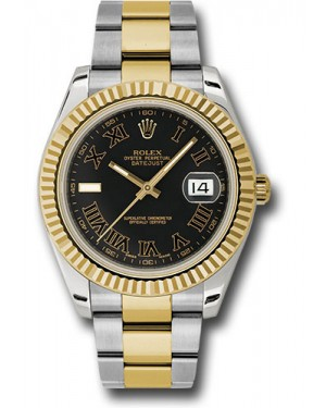 Exact Replica Rolex Datejust II 116333 bkrio 41mm Steel and Yellow Gold Fluted Bezel Oyster